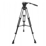 EIMAGE EK650 PROFESSIONAL CAMERA VIDEO TRIPOD CON FLUID HEAD 75MM BOWL 11 LBS. PAYLOAD